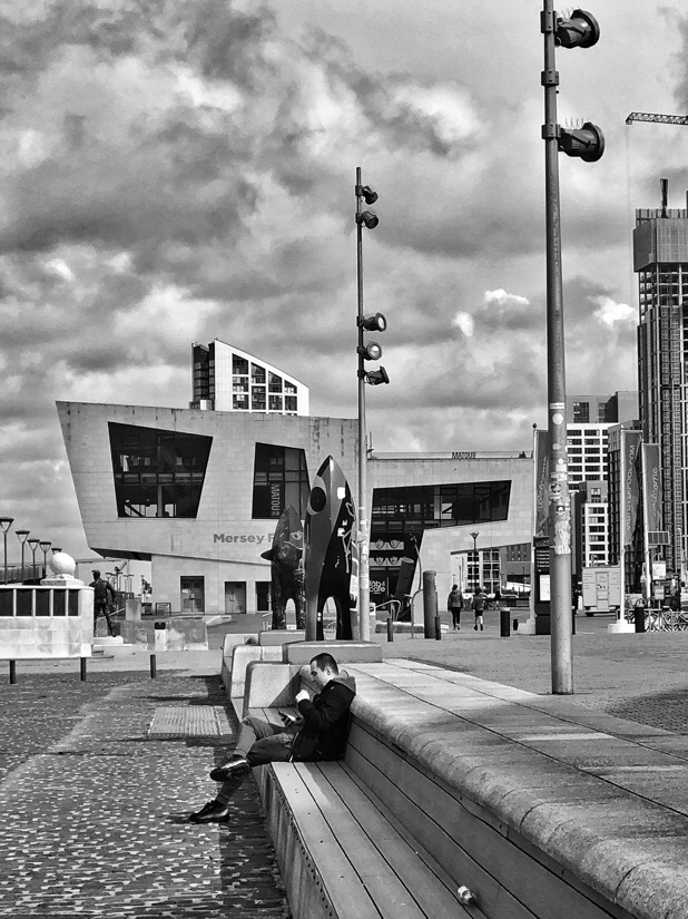 Walking around The Pier Head in Liverpool, England