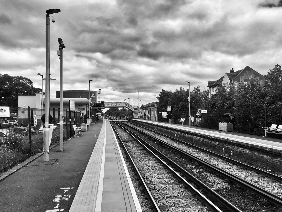 Ainsdale Station on the Northern Line of the Merseyrail system in Liverpool, England