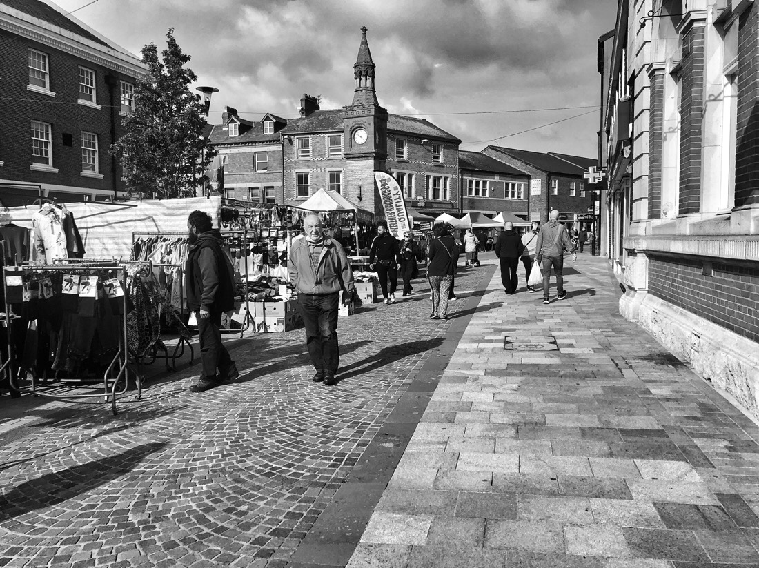 Saturday morning Ormskirk Market, a quick walk passed the open air stalls