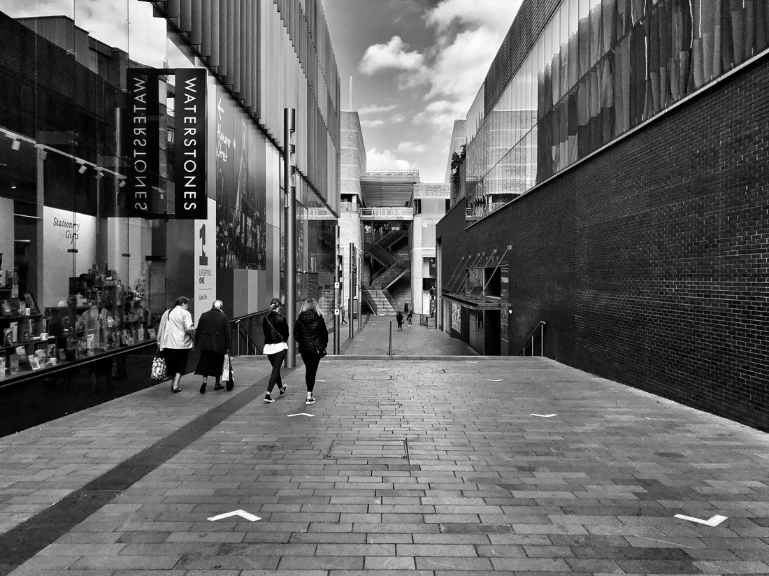 People walking in the streets of Liverpool