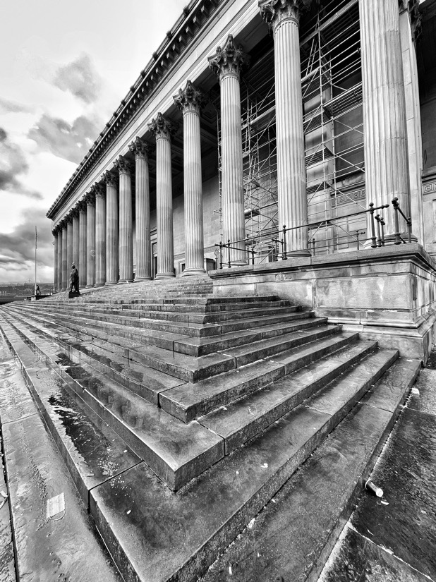 St Georg's Hall and cenotaph in Liverpool, England