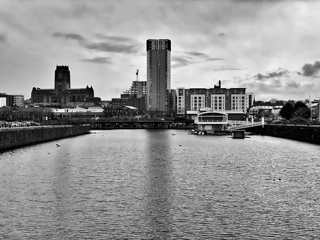 Walking along the River Mersey in Liverpool from the Pier Head