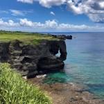 【沖縄恩納村】「万座毛」エメラルドの海にそびえる断崖と絶景