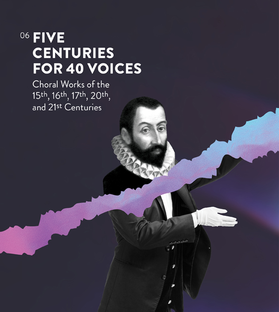 Five Centuries for 40 Voices concert poster