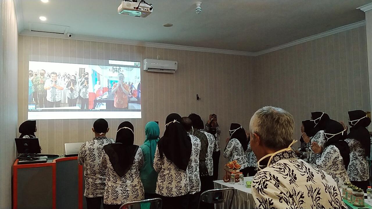 Halalbihalal virtual SMA Nasional bersama Yayasan P2PUTN Malang