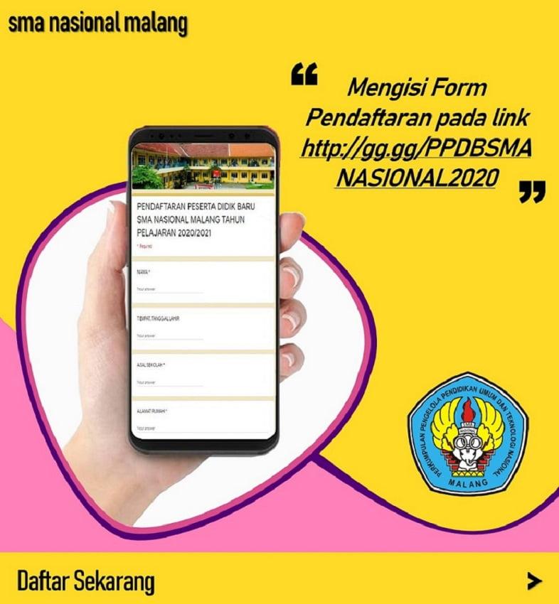 Alur PPDB Online SMA Nasional Malang 1