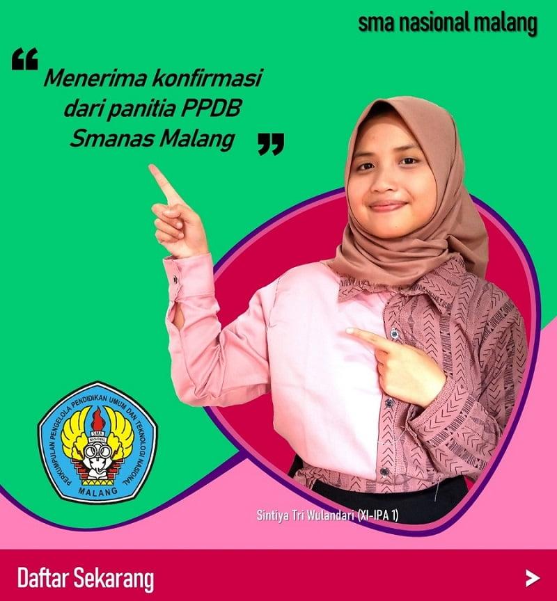 Alur PPDB Online SMA Nasional Malang 2