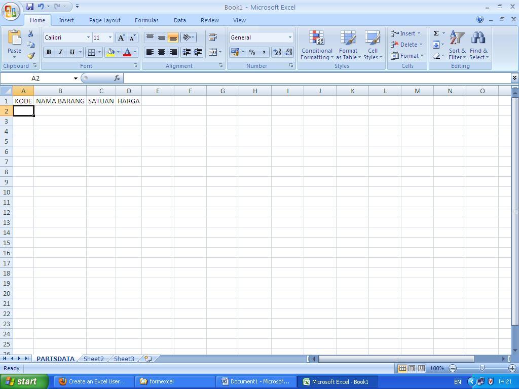 Petunjuk Terpuji Membuat Form Isian Data Sederhana Di Excel