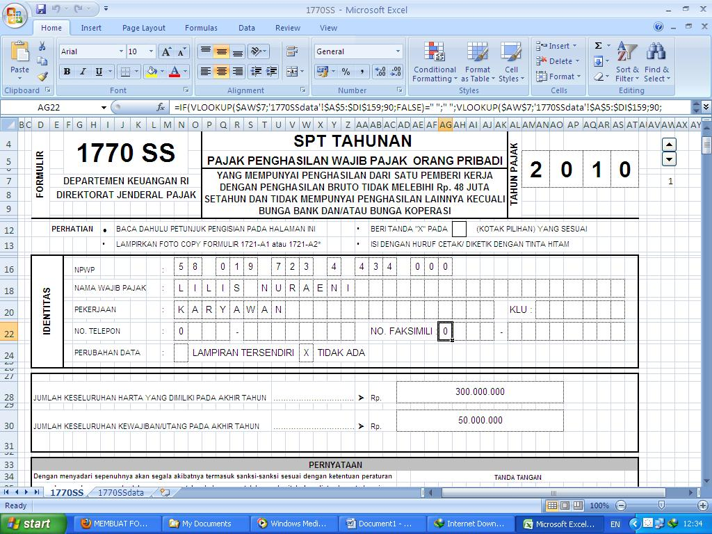 Membuat Form Isian Data Pengisian Form Ss Spt Tahunan