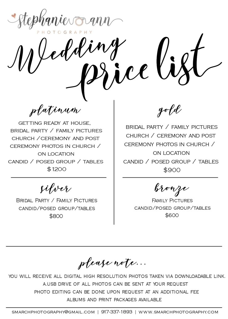 Wedding Prices
