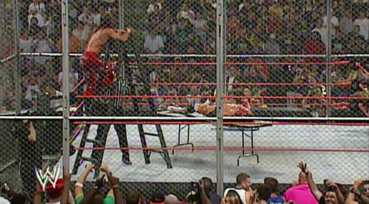 triple h vs shawn michaels hell in a cell badd blood 2004