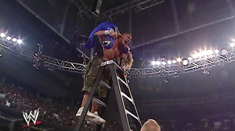 john cena edge unforgiven 2006 tables ladders chairs