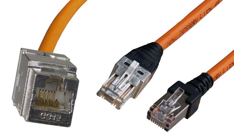 CAT 7 Kabel GG45 Stecker und Buchse