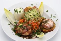 smartijs - salade geitenkaas spek en honing