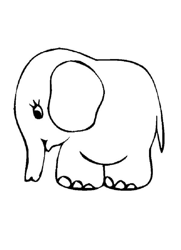 Слон раскраска