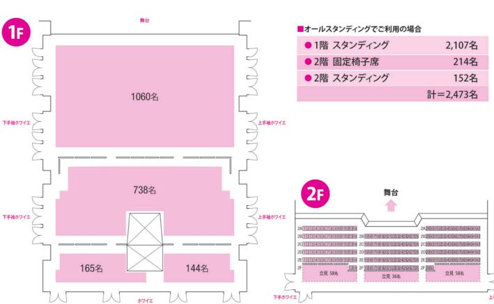Zeppダイバーシティ東京の座席表やキャパは?