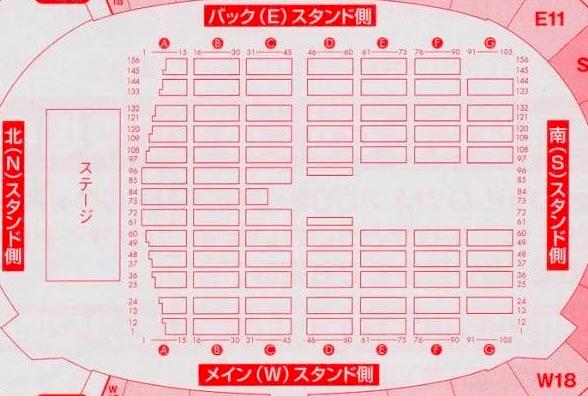 エコパスタジアムの座席表やキャパは?