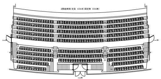 日本青年館ホールの座席表とキャパは?