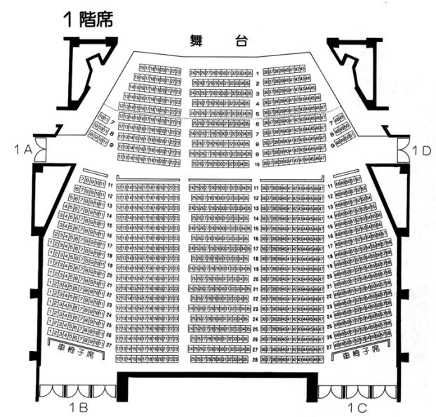 市川市民文化会館の座席表とキャパは?