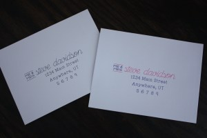 Wedding invitation envelopes with Silhouette sketch pens