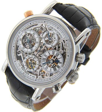 Pathos CH-7323S automatic dual-time chronograph watch