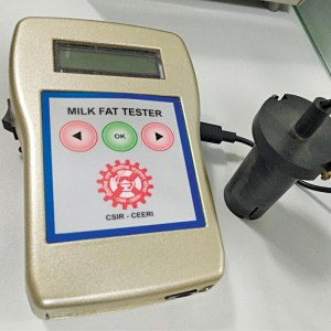 Under-test prototype of the milk fat tester