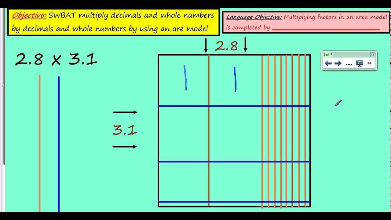 Area Model Multiplication Worksheets 5th Grade