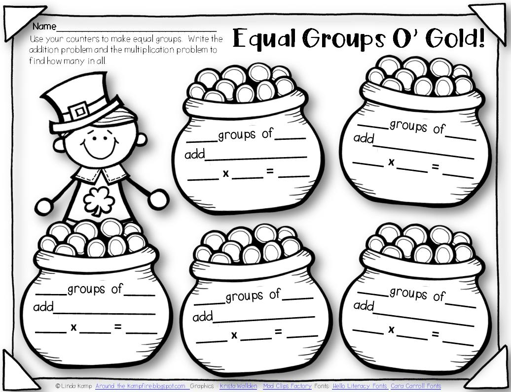 Equal Groups Multiplication Worksheets Year 2