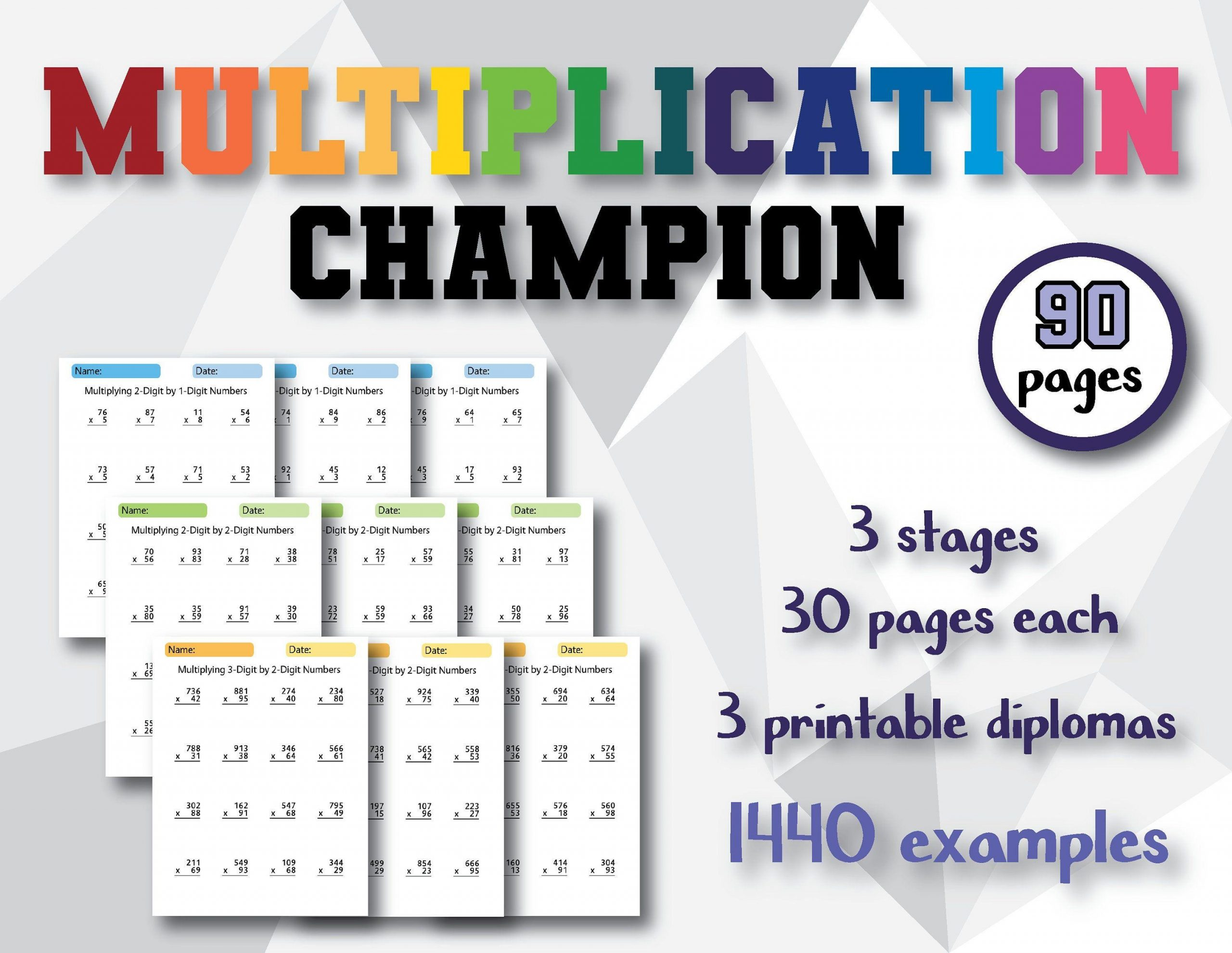 Multiplication By 3 Worksheets Math Drills