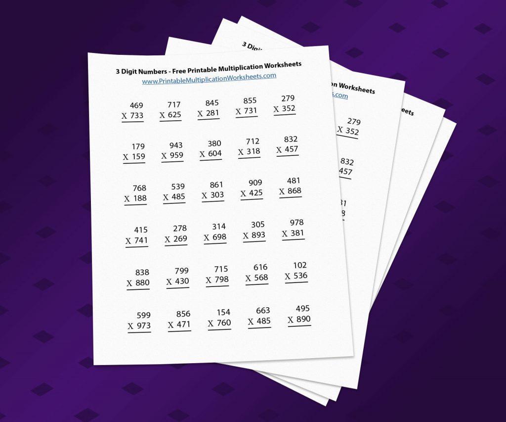 Multiplication Worksheet 3 By 1 Digit