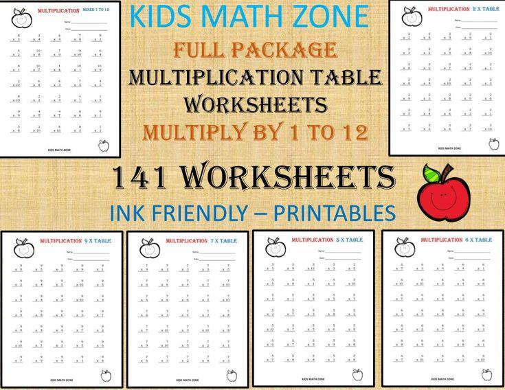 Multiplication Worksheets All Facts 6
