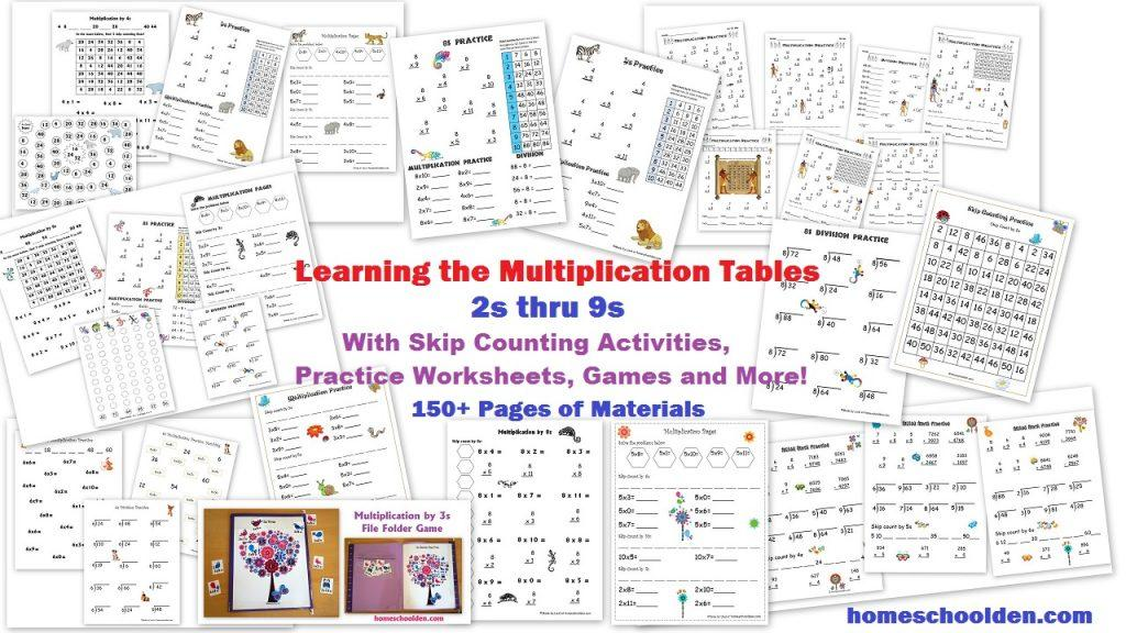 Multiplication Worksheets All Facts 8