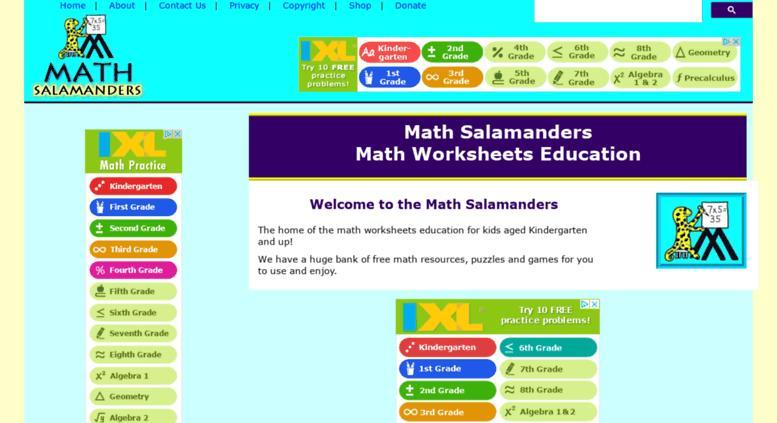Multiplication Worksheets Math Salamanders 1