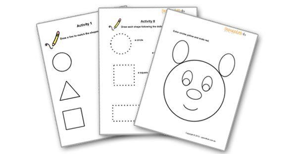 Free Preschool Worksheets Age 3-4 Pdf