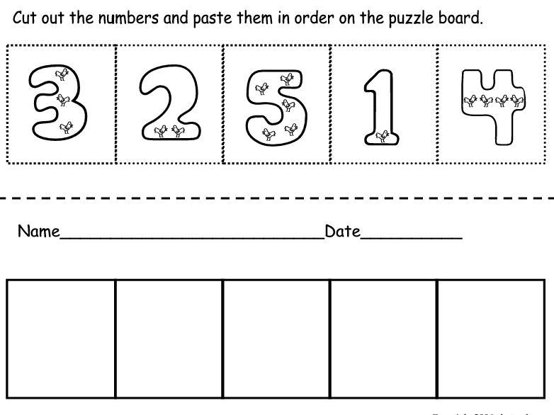 Free Preschool Worksheets Cut And Paste