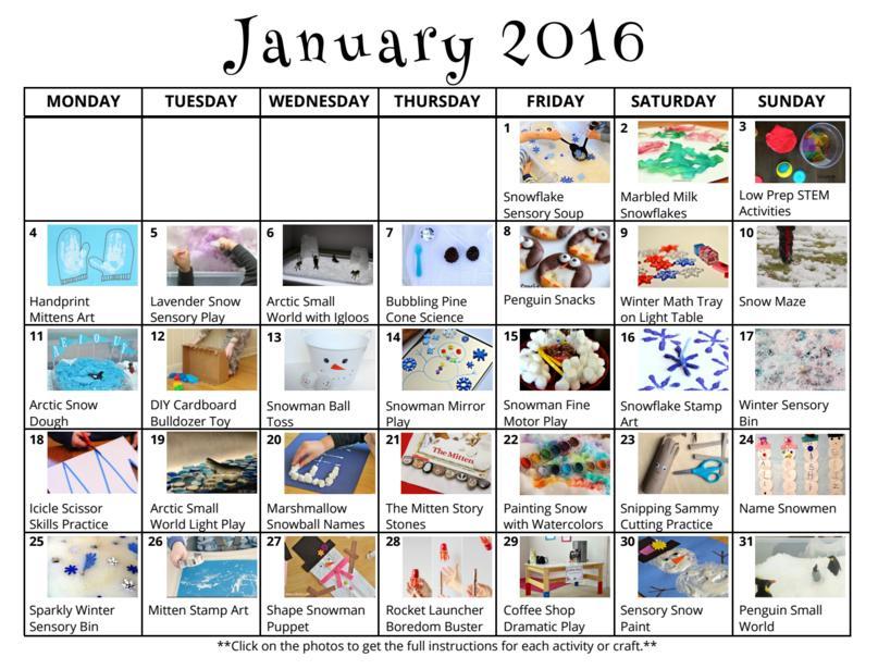 January Preschool Worksheets 4