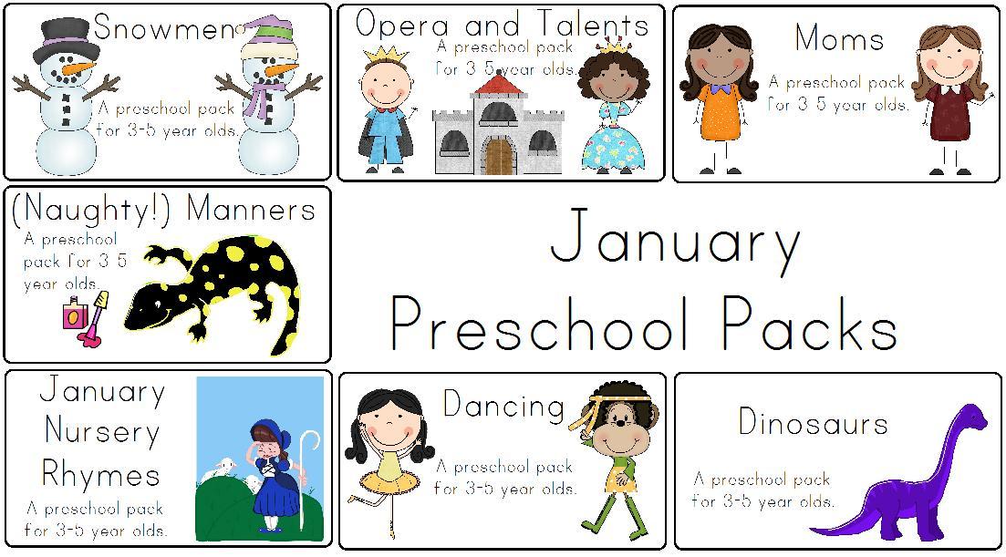 January Preschool Worksheets 8