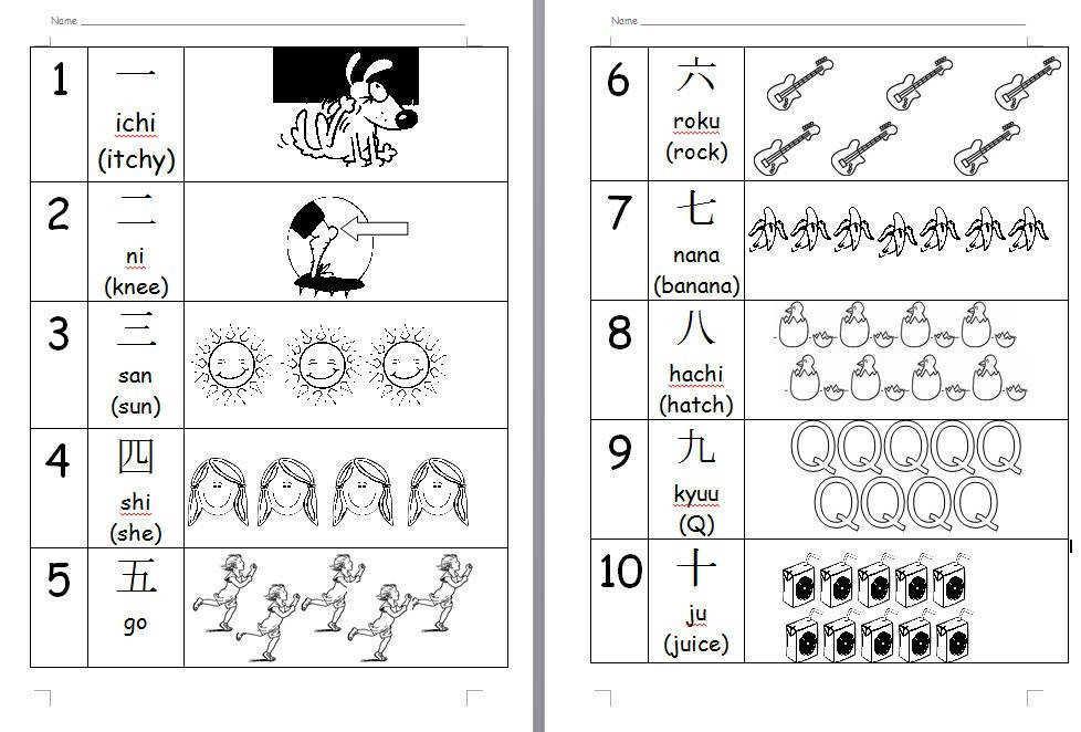 Japanese Preschool Worksheets 5