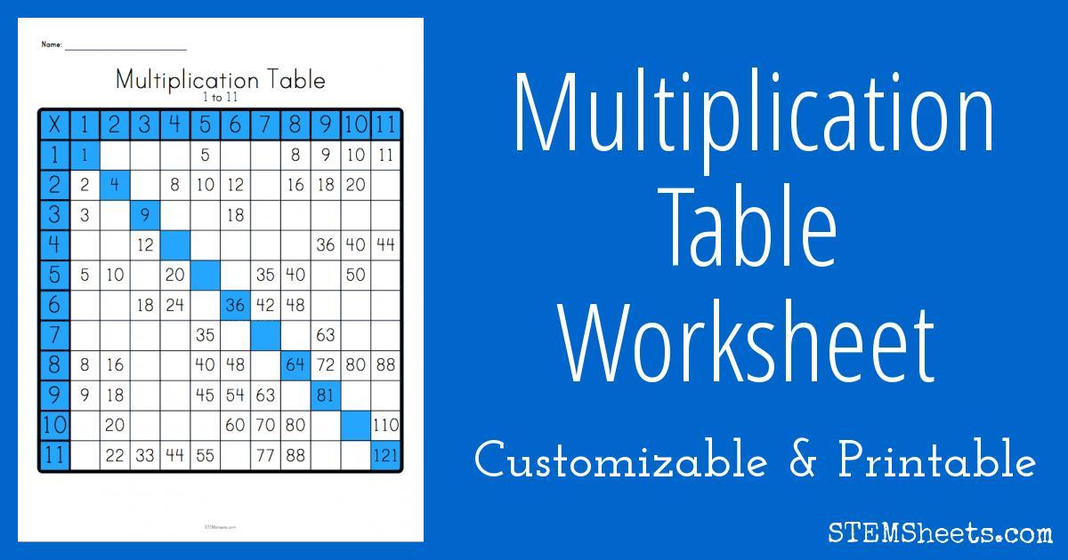 Multiplication Worksheets Random Order 13