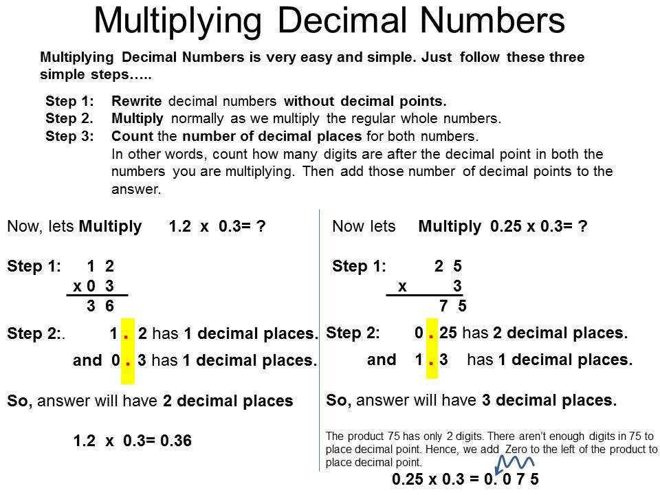 Multiplication Worksheets With Decimals 1