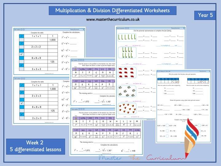 Multiplication Worksheets Year 5 Uk