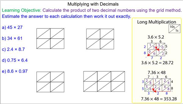 Multiplying Decimals Worksheet With Answers