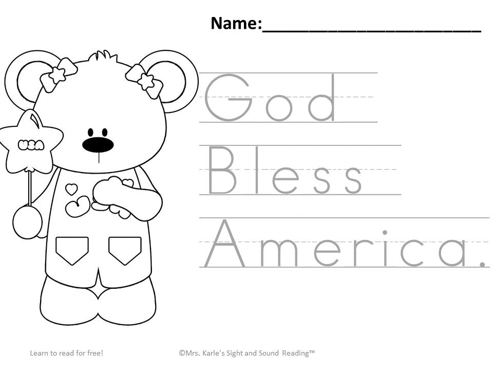 Preschool Fourth Of July Worksheets 1