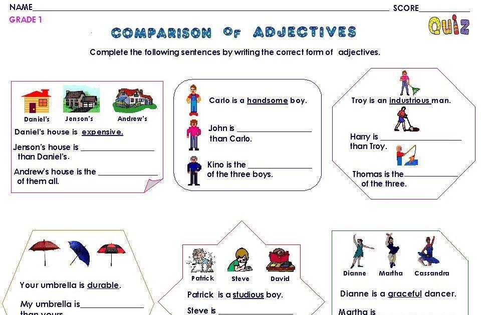 Preschool Grammar Worksheets 1