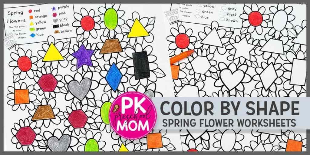Preschool Worksheet Shapes Trace