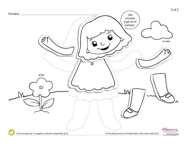 Preschool Worksheets Body Parts 1