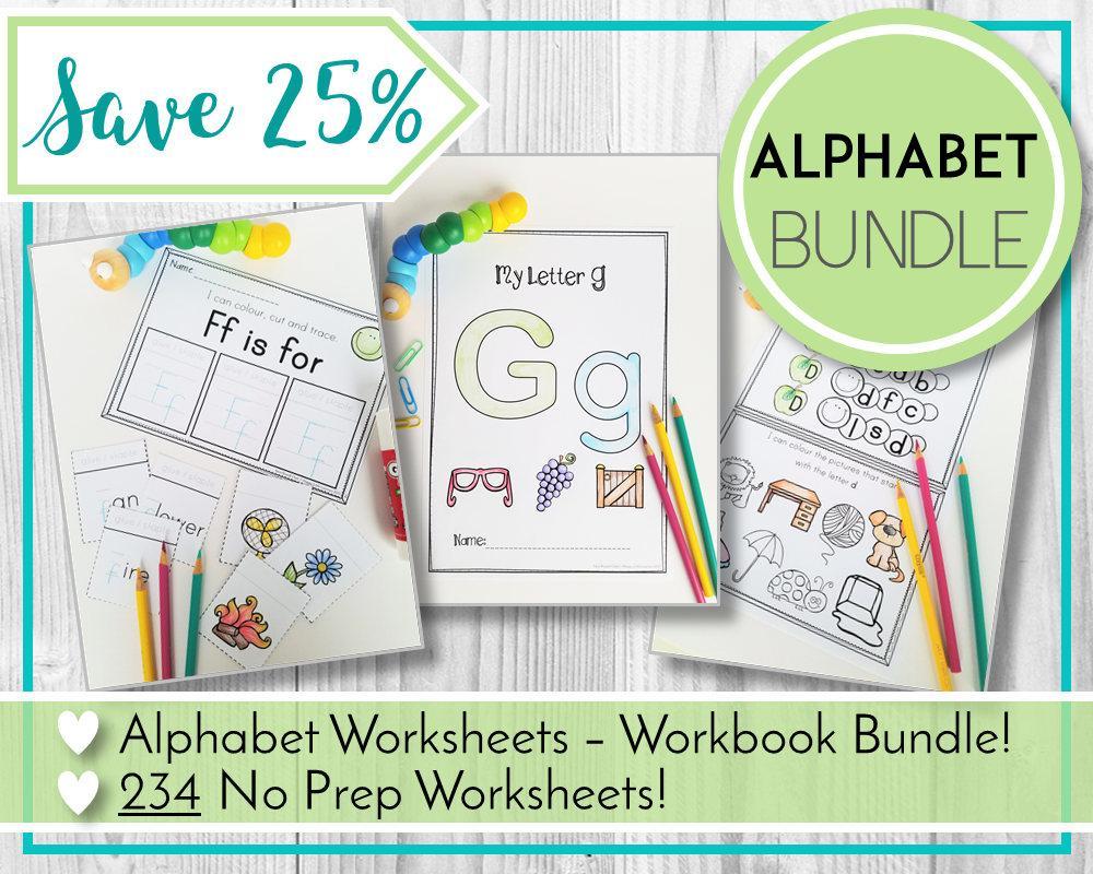 Preschool Worksheets Bundle 5
