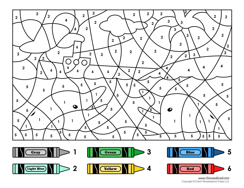Preschool Worksheets Color By Number 1