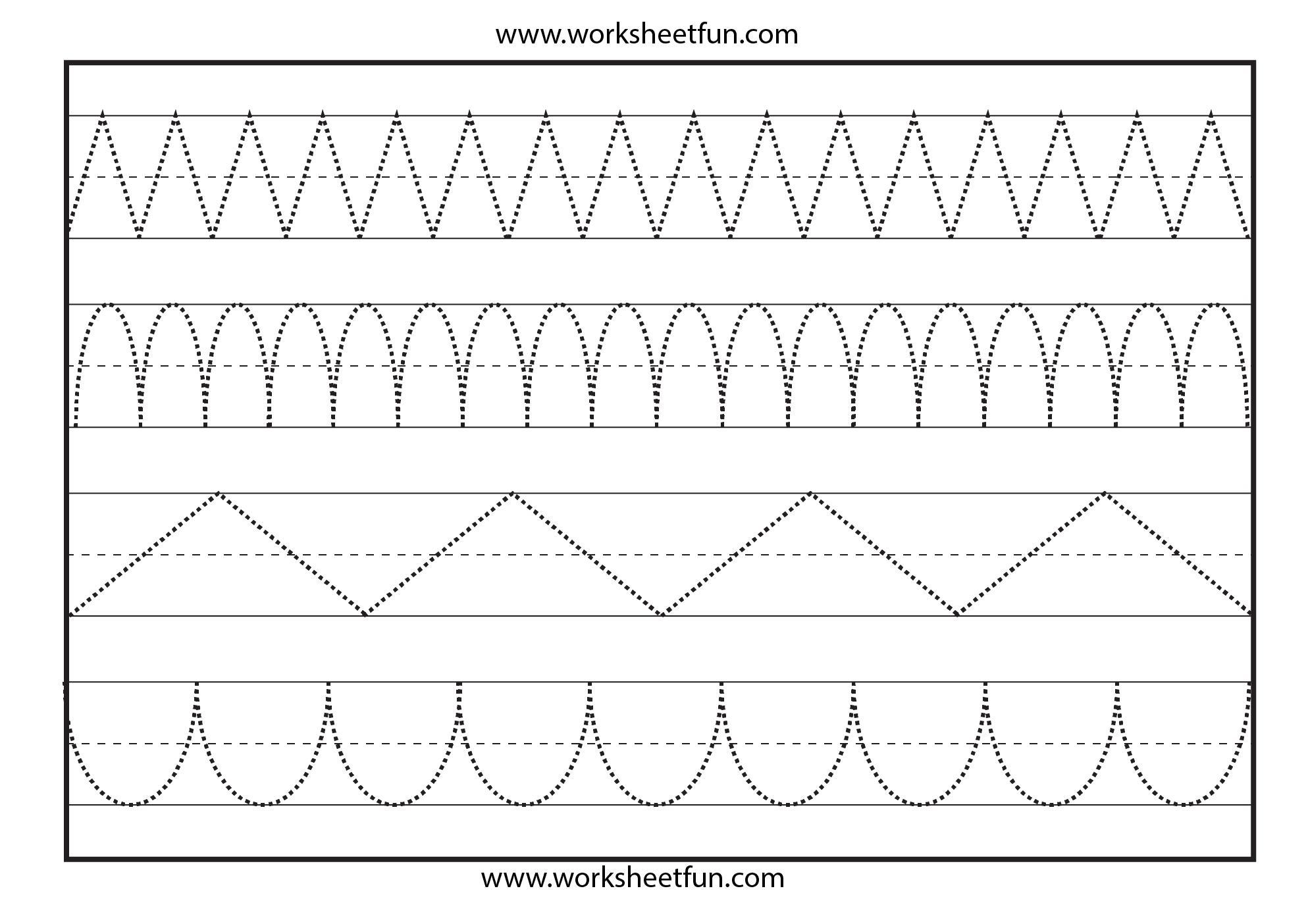 Preschool Worksheets Dotted Lines 4