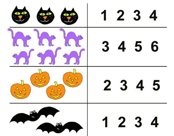 Preschool Worksheets Halloween 1